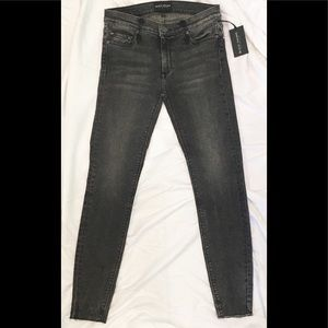 Black Orchid Denim Noah Ankle Fray Liquify jeans